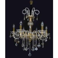 CVMA厂家直销 5034C-6A奢华K9简欧式蜡烛水晶吊灯白炽灯客厅卧室现代吊灯餐厅金色