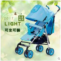 爱尔宝贝MJS812T可躺可坐折叠轻便夏季婴儿手推车玩具避震不锈钢婴儿车碳钢四轮一件代发