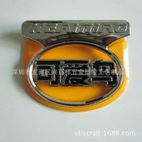 五金锌合金可爱鸟电动车标牌制作 深圳金属标牌厂家烤漆标牌定做