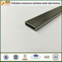 ss201 thin walled flat rectangular stainless steel tube for USB connector