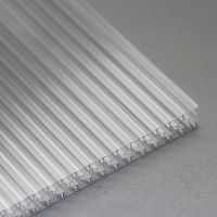 上海太勇正泰电器工厂雨棚用pc耐力板应用范围、韩国现代工厂办公隔离用透明PC板、防雾滴PC阳光板