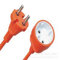 厂家供应欧洲插头 公母插头延长线电源插头