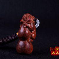 佳木御品 工艺品貔貅报葫 印度小叶紫檀木雕工艺品 挂件/文玩收藏