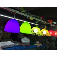 彩色硅胶灯头吊灯爱迪生灯酒吧台创意餐厅服装店装饰小吊灯橱窗灯