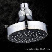 批发广东厦门新款淋浴10CM塑料小顶喷铜进水接口花洒喷头软管配件
