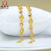 黄铜镀金首饰 展销会热销外贸黄铜仿黄金饰 厂家直销 爱心手链
