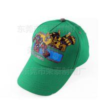 儿童变形金刚棒球帽 欧美动漫卡通帽子定制户外防晒遮阳儿童帽子