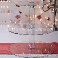 加工定制多层亚克力蛋糕架/透明有机玻璃婚礼蛋糕陈列架