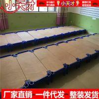 长沙幼儿园床批发午睡床统铺床密板通铺床专用小床叠叠平铺床质量保证