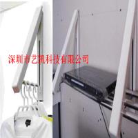 多功能架伸缩折叠衣架不锈钢喷粉定制非标架墙壁隐敝式多功能衣架