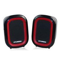 现代 HY-68T 线控笔记本迷你音箱音响 2.0声道 USB供电低音加强型