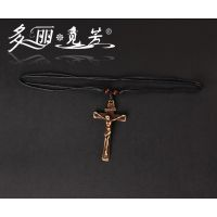 多丽觅芳 耶稣基督十字架 骨雕项链 吊坠挂件 旅游纪念品 饰品
