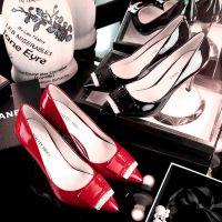 欧美新款真皮尖头高跟鞋2015春秋金属方扣装饰女鞋尖头工作单鞋