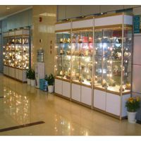 北京世纪腾发玻璃展柜精品展架礼品店货架茶叶数码展柜表面处理