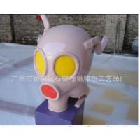 程爵雕塑玻璃钢消防面具 来图样定做