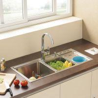 厂家专业生产直销 供应水槽 手工水槽双槽 D01不锈钢 洗菜盆