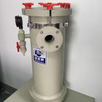 定制:PP大口径电镀工业过滤器,固液分离布袋式过滤器,PP水过滤器