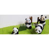 臻茹植绒厂提供熊猫公仔儿童公仔玩具植绒毛加工生产