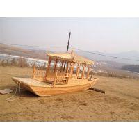 纯手工艺打造新款中式古典观光木船出售 浙江圆明园景区电动游船休闲客船