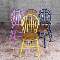 海德利厂家定制 LOFT美式乡村餐椅 金属铁艺餐椅 批发