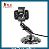 深圳厂家直销战警金属视频头高清台式USB带麦克风夜视数码摄像头