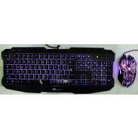 批发 顺拓ST-1000 网吧游戏发光键盘套装三色背光七彩呼吸灯鼠标