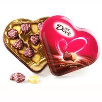 包邮 正品德芙 心语巧克力98g心形礼盒装