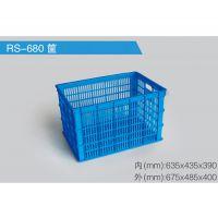 滨海380-225海鲜塑料周转箱物流箱周转筐规格批发厂家