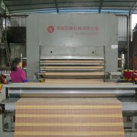 1200T1-5层草席藤席竹凉席设备压布机生产厂-青岛国森机械