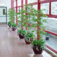 仿真植物厂家 仿真竹子盆栽 酒店装饰家庭隔断屏风假竹子