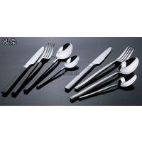 供应不锈钢西餐餐具套装西餐刀叉两件套牛排刀叉勺订制渡金系列餐具套装
