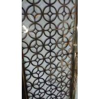 供应不锈钢双面激光切割板 哑光红古铜万字花屏风 201钛金拉丝不双面屏风