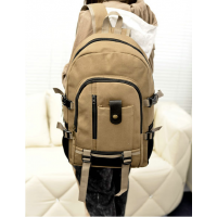 厂家新款健身包定做可印logo大容量带单独鞋位双肩背包帆布包登山包旅行包
