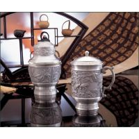 供应马来西亚纯锡茶叶罐茶杯茶具 办公用品 锡制品 家居摆件 企业庆典礼品 金融保险礼品