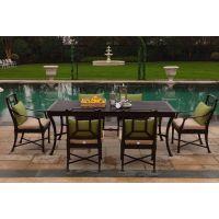 ***优惠的铸铝餐桌椅 高档后花园户外家具 铸铝长桌- 阿帝比斯