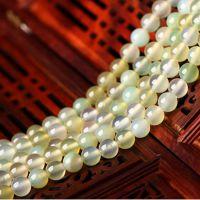 睿姝水晶 苹果绿玛瑙散珠 手链串珠 项链珠 东海天然水晶批发
