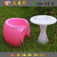 户外休闲时尚家具 花园庭院专用餐桌椅 室内室外通用塑料椅子凳子