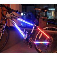 厂家批发山地超炫装饰自行车三角架边条辐条灯 7LED装饰灯警示灯