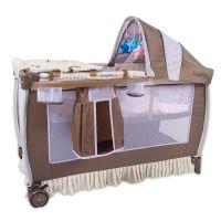 欧式进出口多功能双层婴儿游戏床BB儿童床安全折叠婴儿童床批发床