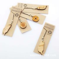 【优质供应】木质雕刻工艺品 可爱卡通 情侣手机链 木质手机挂件