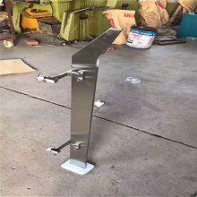 金聚进 现货 不锈钢实心双挂 斜头栏杆立柱 双夹楼梯立柱 玻璃扶手