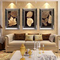 批发美式有框装饰画酒店客厅简欧三联沙发餐厅玄关背景墙挂壁画