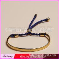 富莱美品牌热销 欧美复古手链 镀金编织链手环 外贸饰品批发FJ023
