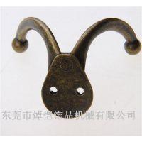 欧式仿古墙壁挂钩 锌合金压铸挂件 电镀金属衣帽钩
