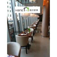 代官山餐厅简约现代桌椅 中餐厅家具定制 上海韩尔家具厂制造