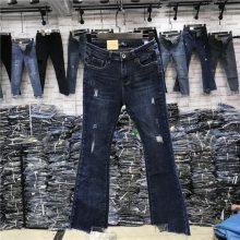 库存服装 低价清仓处理女士牛仔裤品牌尾货 杂款女装小脚女裤长裤