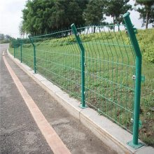 优质浸塑护栏网 双边折弯护栏网价格 公园装饰防护网