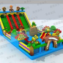 经营简单适用范围广 大型儿童充气滑梯城堡