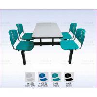 广州双邻家具厂家定制批发公司单位食堂塑钢连体餐桌椅组合 学校工厂饭堂塑钢餐桌椅