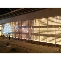 供应PVC国产型电动水晶卷帘门透明门塑料防盗门超市商场西安永乐门业